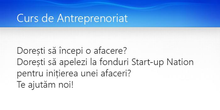curs antreprenoriat
