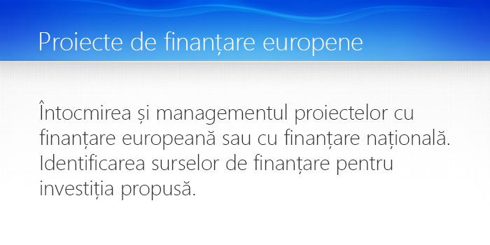 proiecte de finantare europene